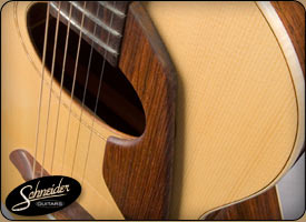 handmade acoustic guitars custom built - The Rosewood Small Body 12-Fret Advanced Flattop